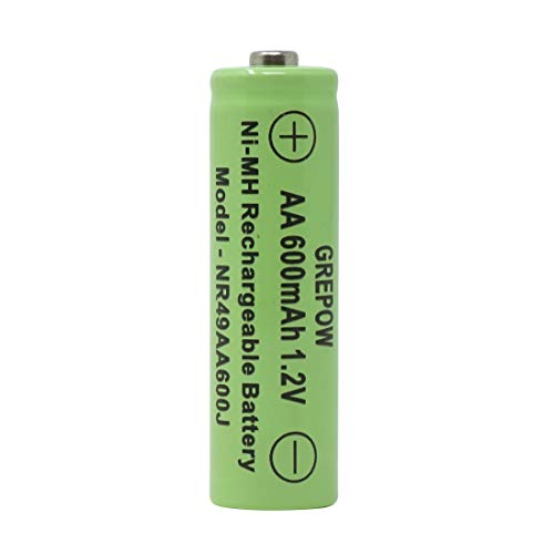 Moonrays 97144 AA 600mah-8 Pack NiMh, Silver