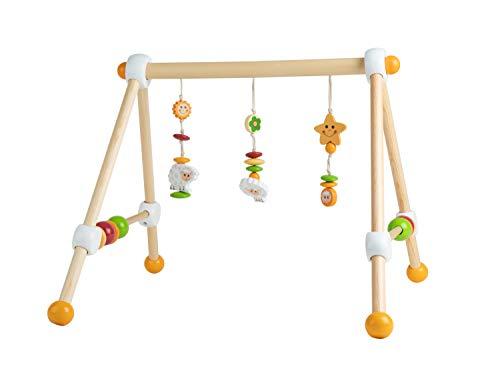 Bieco Spieltrapez Schaf   Spielbogen für Babys mit Figuren, Rasseln und Kugeln   Spielebogen Holz Baby   Spieltrapez Holz   Mobile Holz   Activity Center Baby   Baby Gym   Spielbogen für Babys Holz