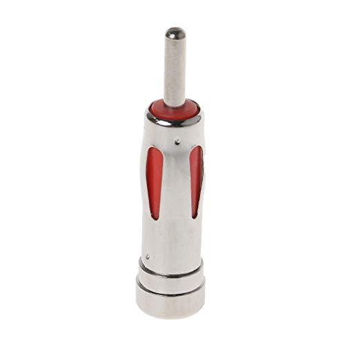 4.5CM Car-styling Universal Rojo ISO a DIN Macho Coche Auto Radio Adaptador de antena estéreo Adaptador de conector de enchufe aéreo Adaptador a vehículo DIN, Rojo