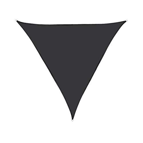 SACYSAC Black Triangle A Prueba de Agua Sombrilla de la Sombra, Tarpaulina de protección UV para jardín de Patio al Aire Libre,3.6 * 3.6 * 3.6M