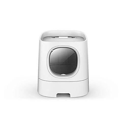Caja de Arena para Gato Todo Cerrado Encantador Aseo Gatitos Antiolor Ecológico Abertura Frontal Fácil de Limpiar WC Inodoro