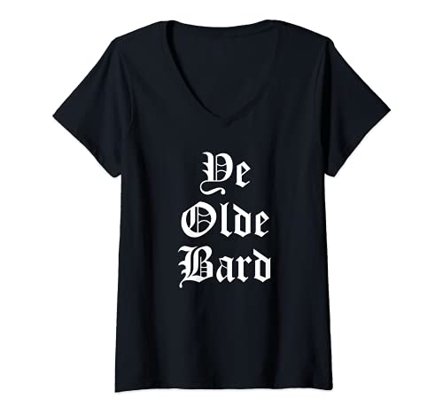 Mujer Ye Olde Bard - Disfraz de festival renacentista Camiseta Cuello V