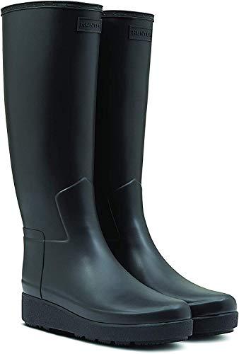 Hunter Original Damen Refined Creeper Tall Stiefel mit schmaler Passform Schwarz (40.5 EU)