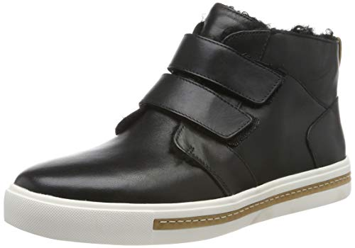 Clarks Damen Un Maui Mid Hohe Sneaker, Schwarz (Black Leather Black Leather), 38 EU
