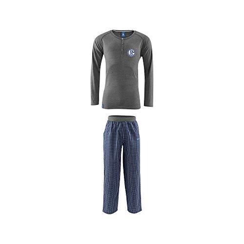 Schalke 04 Kinder Schlafanzug lang, Sticker Gelsenkirchen Forever, Pigiama, Pajamas, Pijama, 睡衣, パジャマ, منامة (140)