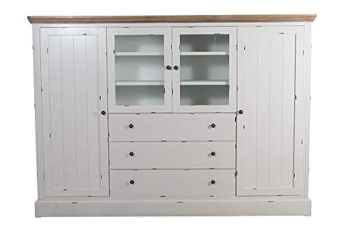 Sideboard Karup Holz Vintage Look weiß Kommode Landhausmöbel