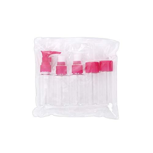 Kit de bouteille de maquillage, 5pcs / Set Kit de conteneur de crème pour lotion de bouteille de lotion(rose rouge)
