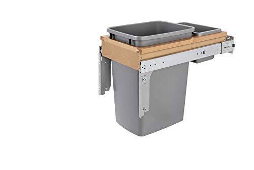 Rev-A-Shelf 35 Qrt Top Mount Waste Container (Inset), Natural
