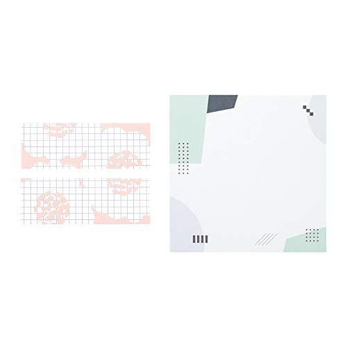 キングジム 便箋ふせん 2冊セット フラワー × カタチ 3060-006RYS