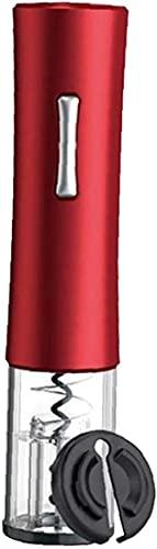 VTAMIN Abridor automático de Botellas eléctrico sacacorchos de sacacorchos de batería de Vino removedor de Corcho Rojo (Color : Red)