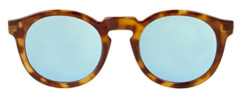 MR.BOHO, High-Contrast tortoise jordaan with sky blue lenses - Gafas De Sol unisex multicolor (carey), talla única