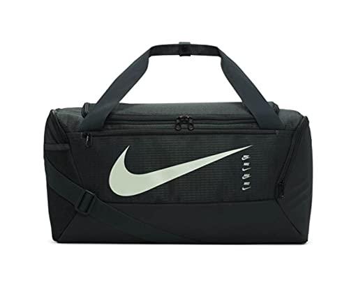 Nike Brasilia 9.0 Sportsbag S, Verde scuro - bianco, Taglia unica