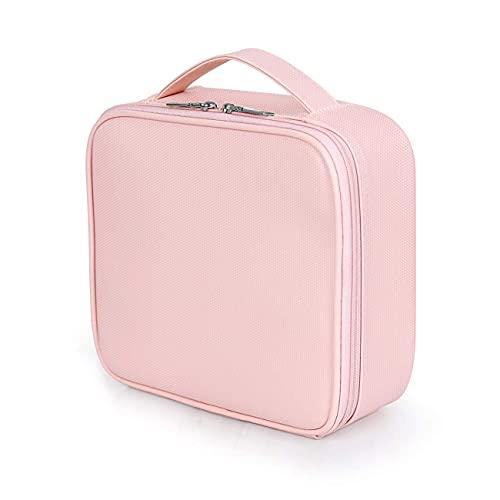 Kosmetiktasche Portable Reise Make-Up Tasche, Professional Schminktasche, Kosmetik Schönheit Werkzeug Lagerung Tragen Koffer Tasche wasserdichte Oxford-Stoff Organizer Fall, Rosa