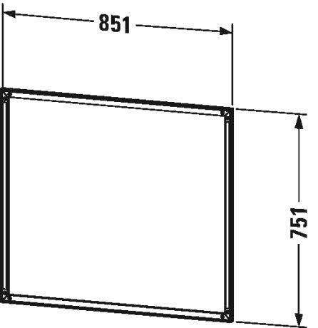 Duravit L-Cube Einbaurahmen für Spiegelschrank, 850x10 mm, mit integrierter Touch LED - LC968600000