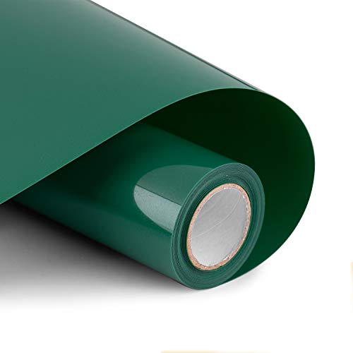 """Heat Transfer Vinyl Bundle 12"""" x 10' Feet Rolls, PU HTV by Cricut and Silhouette Cameo Easy to Cut & Weed, DIY Heat Press Design for T-Shirt, Clothes, Hats and Other Textiles (Green)"""
