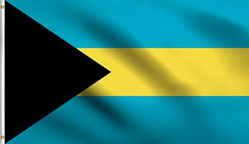 DMSE Bahamas Bahamian Caribbean National Flag 3X5 Ft Foot 100% Polyester 100D Flag UV Resistant (3' X 5' Ft Foot)