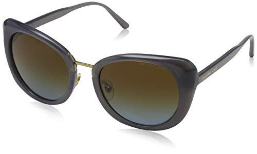 Michael Kors Damen Lisbon 332113 52 Sonnenbrille, Grau (Milky Grey/Brown Blue Gradient)