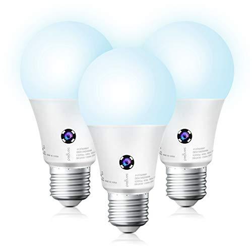Sengled Dusk to Dawn Light Bulbs Outdoor, 5000K Daylight LED Light Bulb 10.5 Watt Equivalent 1200LM, Automatic Dusk to Dawn LED Light Bulbs for Outdoor Lighting, 3 Pack, UL Listed.