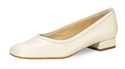 Fiarucci Brautschuhe Ballerina Shoes Kim Ivory Ballerinas mit Absatz Echt Leder Wedding Shoes Leather Gr. EU 36 UK. 3
