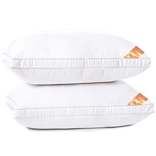 AYO 枕 ホテル仕様 高反発枕 横向き対応 丸洗い可能 立体構造43x63cm 家族のプレゼント ホワイト(長さ63cm*幅43cm*高さ20cm (2つの枕)