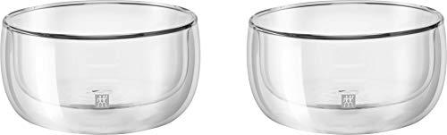 Jogo com 2 Bowls para Sobremesa, Vidro de Parede Dupla, Transparente, 280 ml, ZWILLING Sorrento