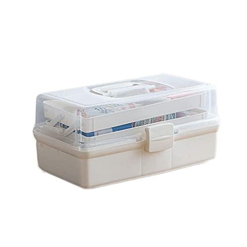 QIXIAOCYB Caja de Almacenamiento Caja de Medicina para el hogar Caja de Almacenamiento de la Caja de pie Medicina Grande Capacidad Multi-Capa Médico Medicina (Size : L)