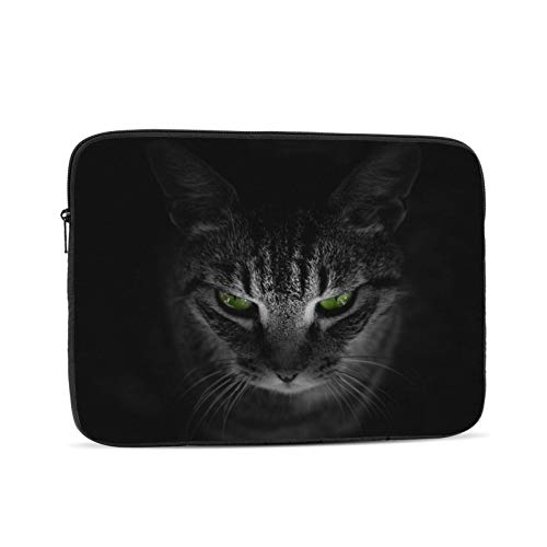 Portátil manga bolsa gato animales negro Tablet maletín ultra portátil lona protectora para
