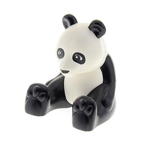 1 x Lego Duplo Panda Bär schwarz weiss sitzend groß Zoo Zirkus Tierpark 10805 6157 6173 45012 98232pb01
