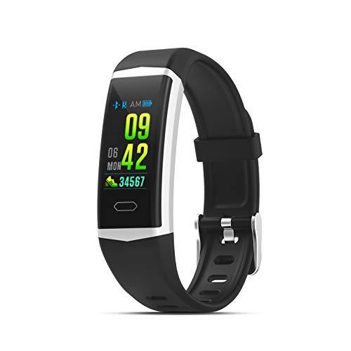 PRIXTON AT805 - Smart band   Smartwatch GPS con schermo a colori, impermeabile, cardiofrequenzimetro, schermo a colori da 0,96 , nero