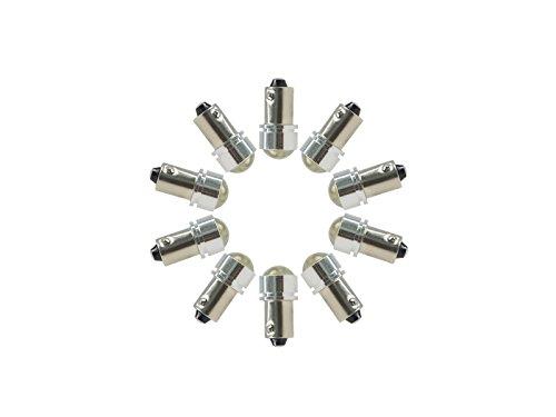 Njytouch 10 x Ambre Jaune T8.5 BA9 BA9S 6253 64111 T11 T4 W ampoules LED carte Porte lumière avec lentille