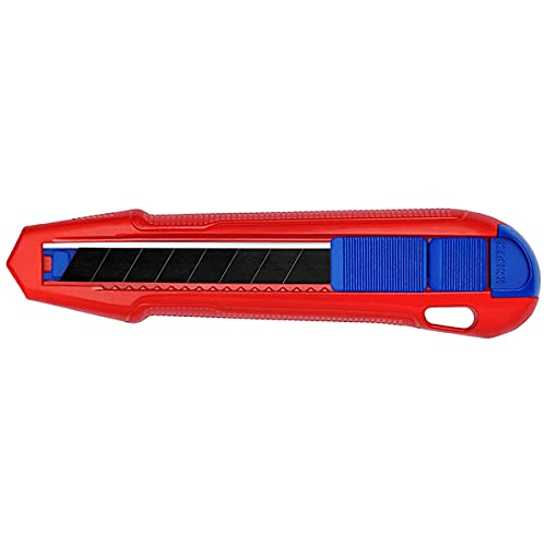 Knipex CutiX Universalmesser Teppichmesser, rot/blau, inkl. 2 Klingen