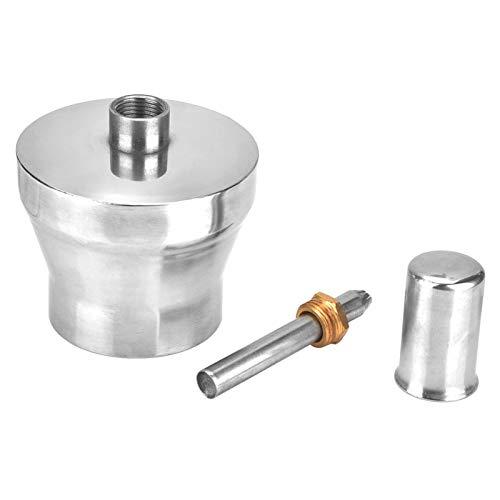 Quemador de alcohol antiexplosión, lámpara de alcohol de laboratorio a prueba de fugas, tornillo de cobre fino plateado para laboratorio de química