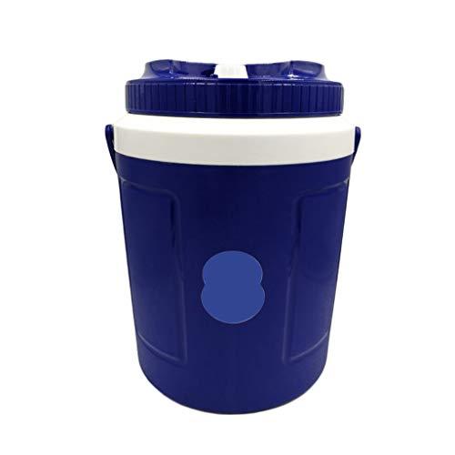 Scrub Secchio di Ghiaccio Grande incubatore refrigerato Scatola 10l Frigorifero Esterno Portatile Isolamento Pesca Fredda Fuori 28 * 36 * 24 cm XMJ (Colore : Blu)