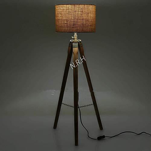 Lámpara de pie de diseño, trípode náutico de estudio (sin sombra)
