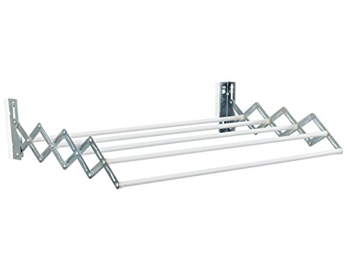Leifheit Classic 38 Extendable - Tendedero de pared de metal, color blanco