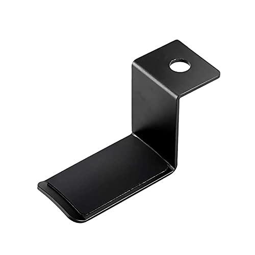 QiHaoHeji Soporte para Auriculares Tenedor De Gancho De La Suspensión De Auriculares Universales Giratorios De 360 ° Debajo del Soporte del Soporte del Escritorio (Color : Black, Size : One Size)