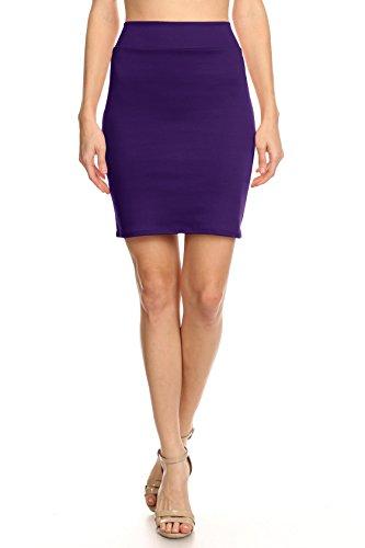 Eggplant Pencil Skirt, Purple Above Knee Skirt Womens, Plum Short Bodycon Skirt