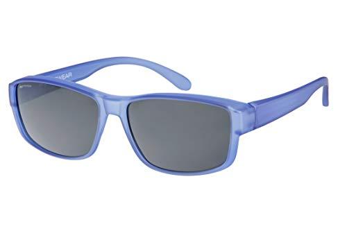 IKY Eyewear overzet zonnebril OB-0004H blauw matted