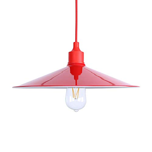 Pendant Light Retro Style Red Iron Easy Fit Fixtures Modern Restuarant Ceiling Light Shade Georgia