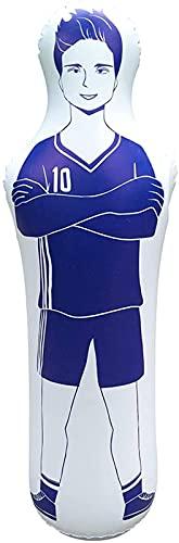 MYJZY Fußball Training Dummy Aufblasbare Fußball Training Ziel Torhüter Stand Tumbler Fußball Zug Dummy Tumbler Luftschaufensterpuppe Defender Wand,Blau