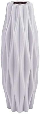 Jarrón | Florero | Decoración en relieve 3 | 21 cm de alto | Color gris plateado