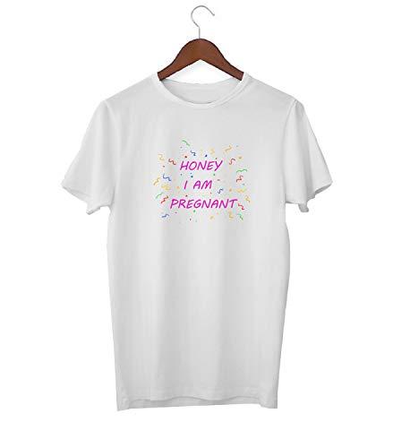 Honing Ik ben Zwangere Baby Aankomst Quote_KK017258 Shirt T-shirt voor Mannen - Wit