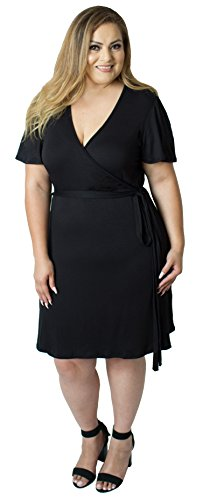 Product Image of the Udderly Hot Mama Curvy Plus Size 'Whitney' Wrap Nursing and Pumping Dress -...