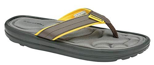 Dunlop Herren Eva Max Zehentrenner Flip Flops Sport Strand Sommer Sandalen Urlaub Pool Schuhe Größe 39-47, Braun - braun - Größe: 43 EU