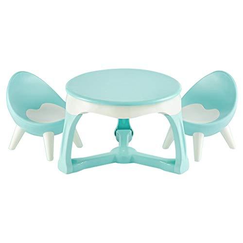 Table d'étude pour enfants Famille Ensemble Table et chaises pour Enfants Chambre d'enfant Apprentissage Table de Jeu Chaise Peut résister à 200 kg de Poids (Color : Blue)