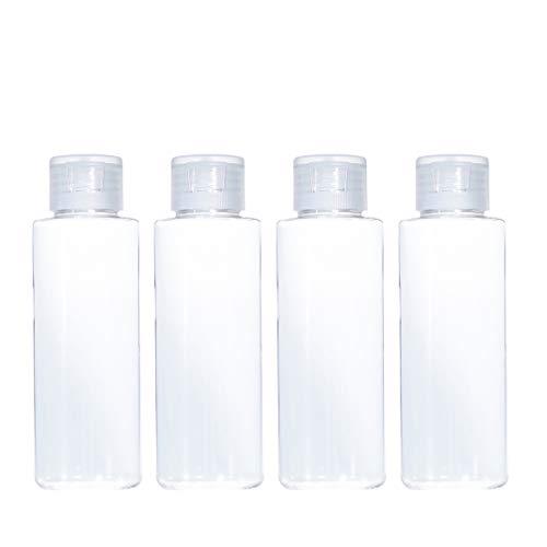 Mobestech 12 Pcs Bouteilles de Maquillage Vides en Plastique Bouteilles D'essence de Rosée Portables avec Flip Cap Cosmétiques Gel Sous-Emballage Bouteilles pour Dames Distributeurs de Lotion (50 Ml)