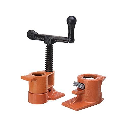 Abrazadera de tubo resistente de 3/4 pulgadas, abrazadera de tubo de hierro fundido de acero para carpintería, abrazadera de tubo de pegado de madera, accesorio de carpintero,Hand rock rod