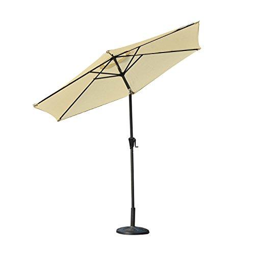 Outsunny Outdoor Aluminum Patio Market Umbrella with Tilt, 9-Feet, Cream