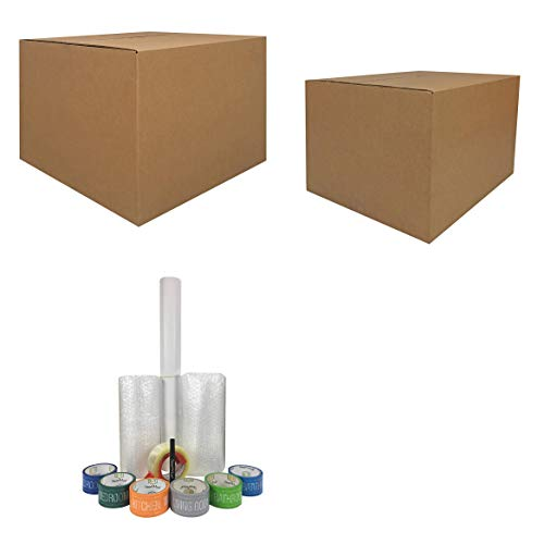 UBOXES Moving Boxes – 2 Room Bigger Smart Moving Kit – 28 Boxes,Tape, More