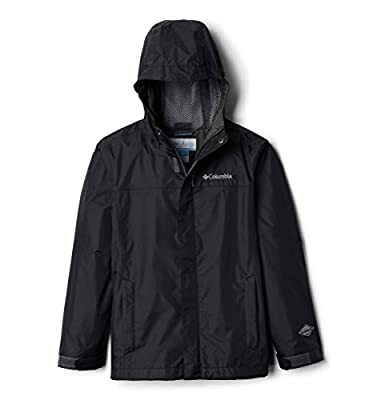 Columbia Boys' Big Breathable Watertight Jacket, Black, Medium